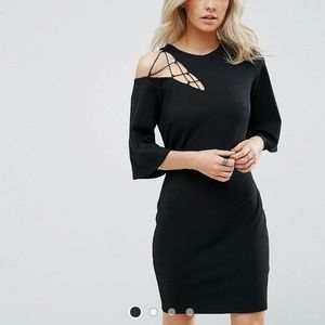 NWT Asos Mini Dress with Lace Up Shoulder
